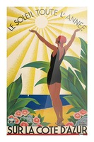 Sun All Year On the Cote dAzur poster in 1931 Picture Frame print