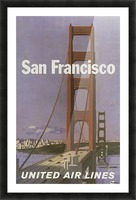 United Airlines Poster for San Francisco Picture Frame print