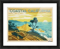 Coastal California travel poster Picture Frame print