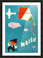 Malev Hungarian Airlines poster Picture Frame print