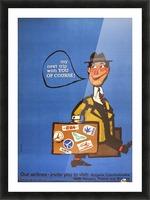 Vintage Interflug Poster Picture Frame print
