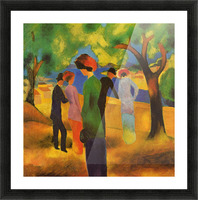 Lady in a green jacket by August Macke Picture Frame print