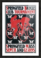 Springfield bicycle club tournament Picture Frame print