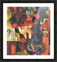Market in Tunisia by August Macke Picture Frame print