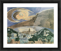 Moon over Barcelona by Walter Gramatte Picture Frame print