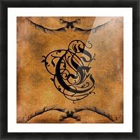 Beautiful Monogram Letter E Picture Frame print