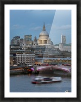 St. Paul's Cathedral and Blackfriars; London, England Picture Frame print