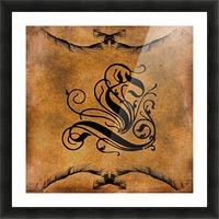 Beautiful Monogram Letter L Picture Frame print