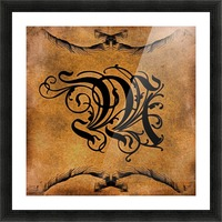 Beautiful Monogram Letter M Picture Frame print