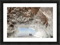 Ice caves on Lake Superior, near Bayfield; Michigan, United States of America Picture Frame print