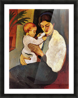 Mother and Child by August Macke Picture Frame print