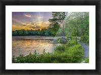 Lakeside sunset; Bushkill, Pennsylvania, United States of America Picture Frame print