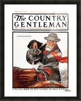 Cover of Country Gentleman agricultural magazine from the early 20th century. . Picture Frame print