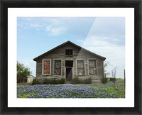 Blue Bonnet Shack Picture Frame print