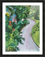 Path in the garden by August Macke Picture Frame print