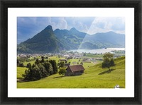 Seewen, a village on Lake Lauerz; Schwyz Canton, Switzerland Picture Frame print