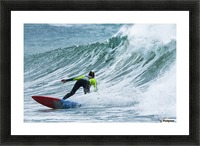 Surfer catching a wave; Tarifa, Cadiz, Andalusia, Spain Picture Frame print