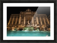 Trevi fountain illuminated at nighttime; Rome, Italy Picture Frame print