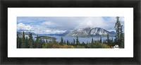 Fall showers create a rainbow over Tagish Lake, Bove Island, along the Klondike Highway, Yukon Territory, Canada Picture Frame print