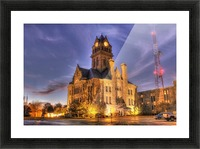 Twilight Courthouse Picture Frame print
