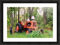 Vintage Tractor Picture Frame print