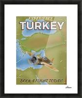 Turkey vintage travel poster Picture Frame print