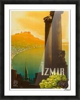 Turkey Izmir vintage travel poster Picture Frame print