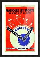 Original 1932 Art Deco Sport Poster Picture Frame print