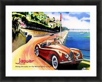 Jaguar Advertising Vintage Poster Picture Frame print