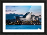 Glowing Opera House Picture Frame print