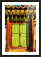 Korean Door Picture Frame print