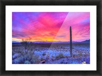 Sonoran_sunset Picture Frame print