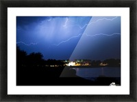 Chasing light Picture Frame print