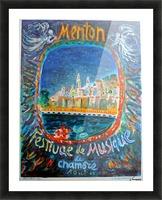 Menton Festival de Musique original advertising poster Picture Frame print