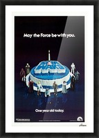 1978 Star Wars Birthday Cake Poster Picture Frame print