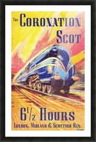 The Coronation Scot travel poster Picture Frame print