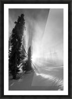 Frozen mist Picture Frame print