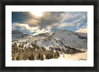 Glowing Alta Picture Frame print