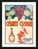Original Vintage 1940 Advertising Poster For Chianti Campani Picture Frame print