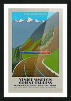 Simplon Orient Express The Alpine Route Picture Frame print
