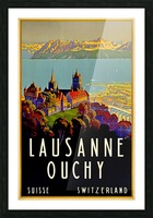 Lausanne Switzerland Travel Poster Picture Frame print