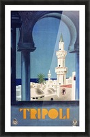 Tripoli travel poster Picture Frame print