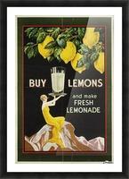 Buy lemons and make lemonade vintage poster Picture Frame print