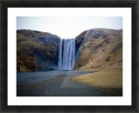 Iceland waterfall Picture Frame print