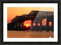 Champlain Bridge sunset Picture Frame print