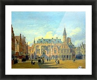 The Market Place and Town Hall Haarlem Picture Frame print