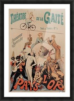 Original Vintage French Poster for Theatre de la Gaite Picture Frame print