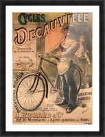 Cycles DeCauville vintage poster Picture Frame print