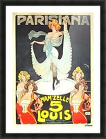 Parisiana Mamzelle Louis V vintage poster Picture Frame print
