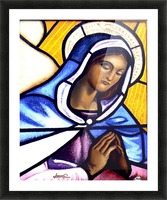 Mary in Glass Picture Frame print